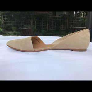 Size 8 J. Crew Beige colored D'Orsay flats